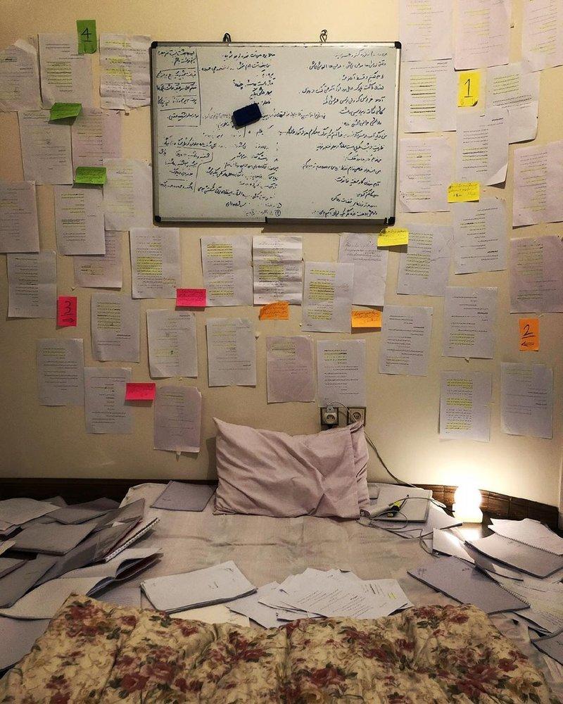 تصویری-که-همسر-بازیگر-«نهنگ-آبی»-از-اتاق-تمرینش-منتشر-کرد