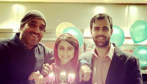 تولد «یاسمینا باهر» در کنار همسر و برادرش