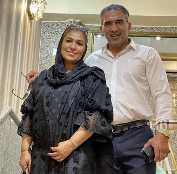 عابدزاده و همسرش + عکس