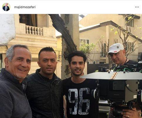 مصطفی زمانی در کنار دو کارگردان مشهور + عکس