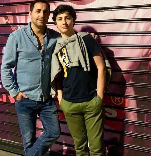 امیرحسین رستمی و پسر نوجوانش + عکس