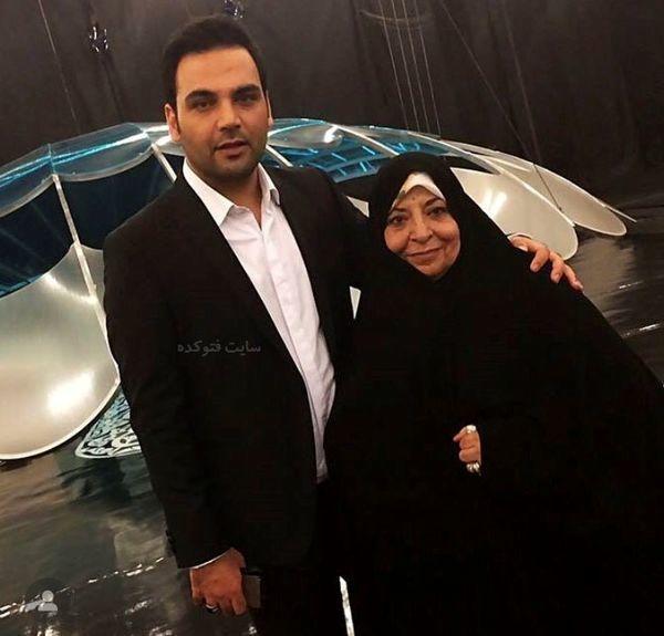 احسان علیخانی در کنار مادر مذهبی اش + عکس