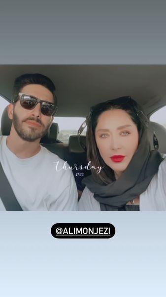 سارا منجزی پور و برادرش در ماشین + عکس