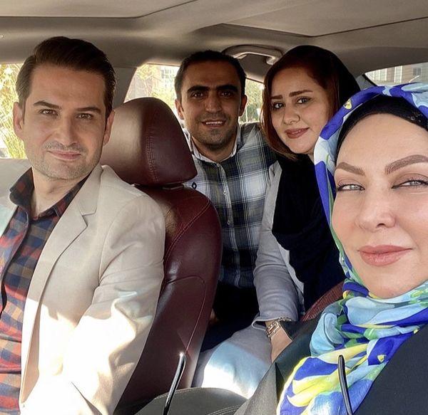 فقیهه سلطانی وپویا امینی در ماشین + عکی