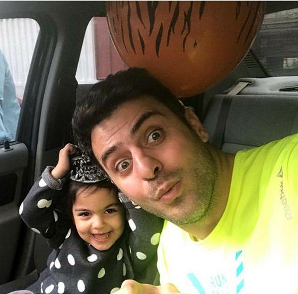 عکس هالوینی علی ضیا و خواهر زاده اش