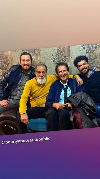 ابوالفضل پورعرب در کنار پدر و پسر معروف سینما + عکس