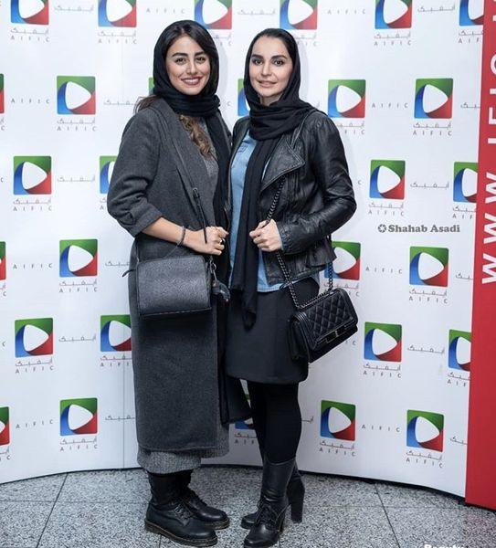 مهدیه نساج و دوستش در یک مراسم + عکس