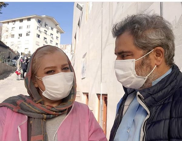 اتابک نادری و همسرش + عکس