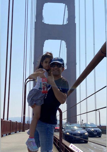 مجید یاسر و دخترش در آمریکا + عکس