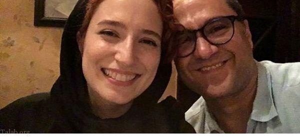 عکس مجری همیشه خندان و همسر بازیگرش