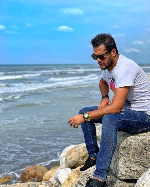 ساحل نشینی آقای بازیگر جوان + عکس