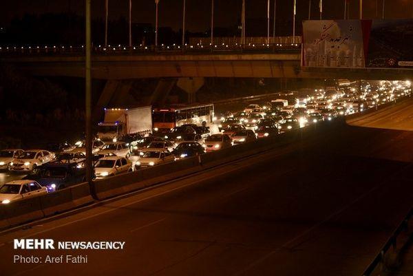ترافیک سنگین در خروجی های غربی تهران