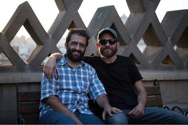 بابک حمیدیان و بهروز شعیبی در روز بلوا+عکس