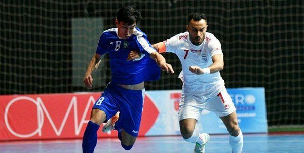 دومین پیروزی تیم ملی فوتسال