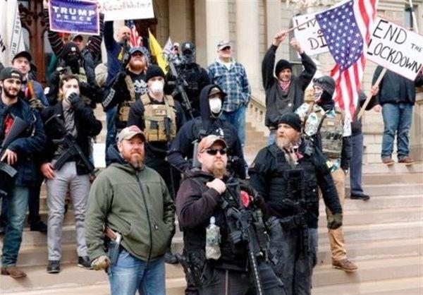 اعتراضات در ۱۰ ایالت آمریکا علیه قرنطینه