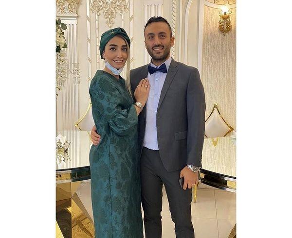 پویان گنجی و همسرش در مراسم سالگرد ازدواجشان + عکس