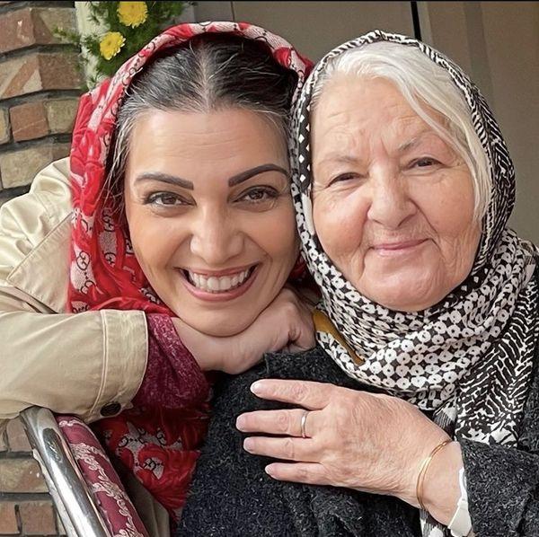 الهام پاوه نژاد در کنار بازیگر پیشکسوت سینما + عکس