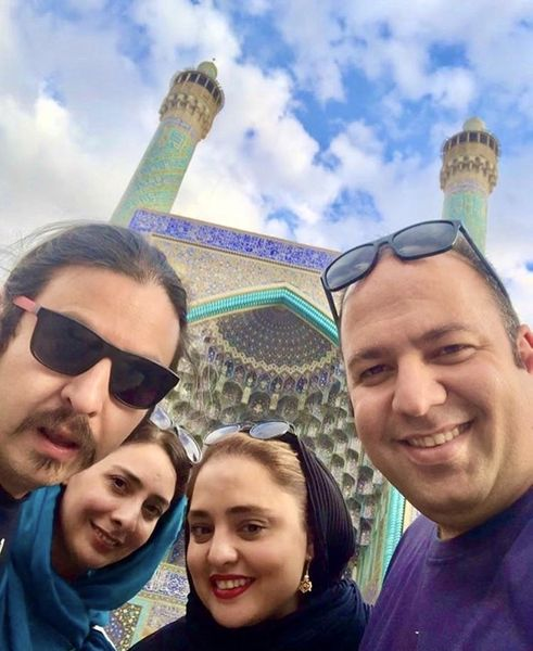 علی اوجی و نرگس محمدی در سفر + عکس
