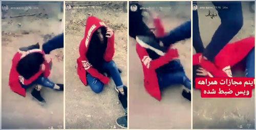 ماهیگیری کاربران اینستاگرام از آب گلآلود کتک خوردن دختر تهرانی!