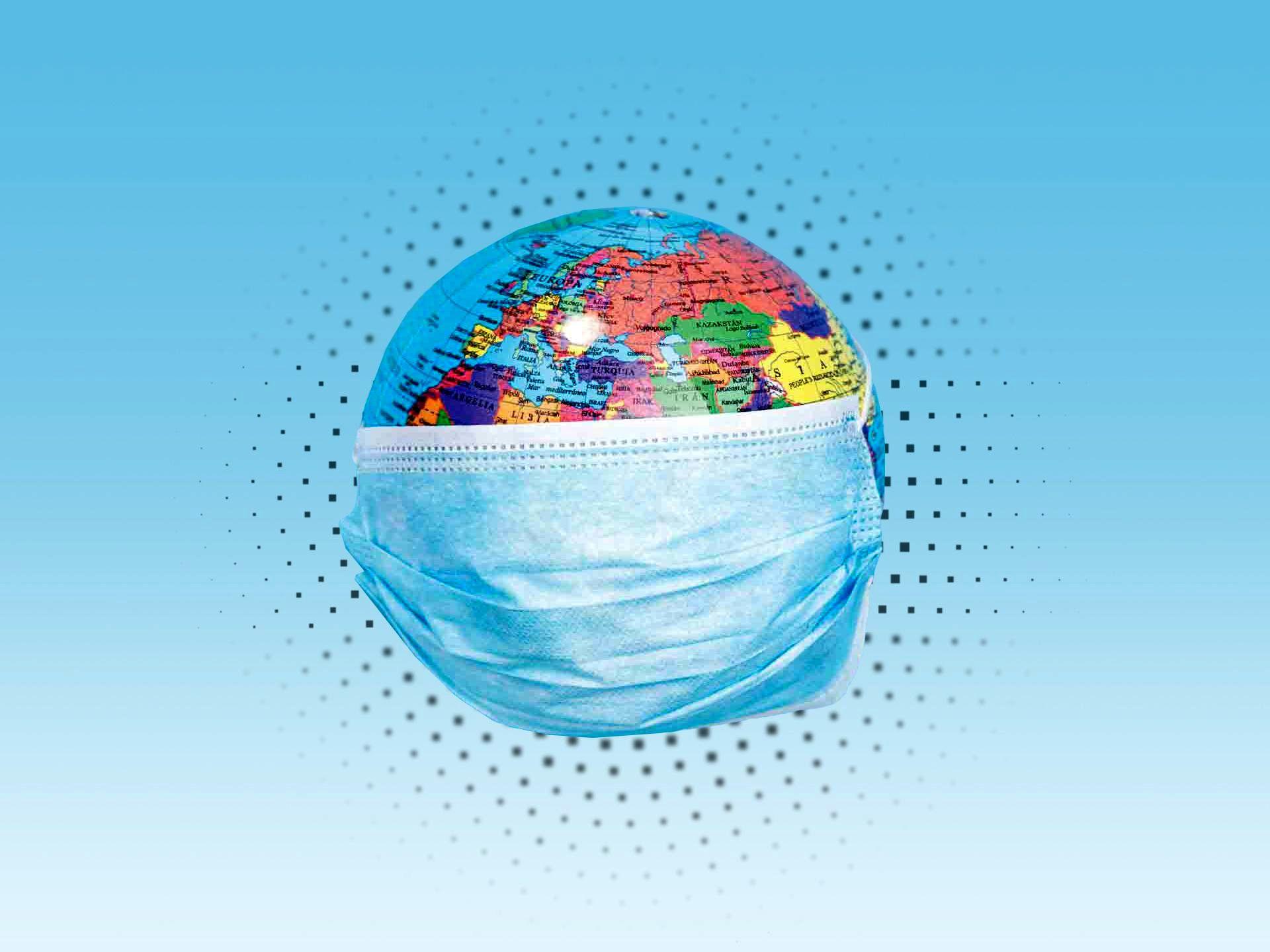 عکسی از کره زمین که به خاطر کرونا ماسک زده است