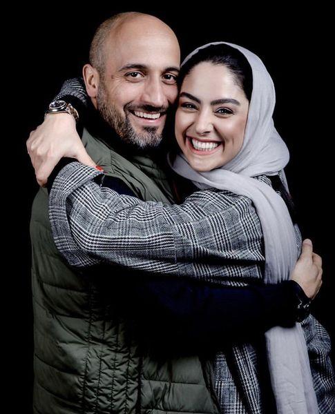 بازیگر همگناه در آغوش همسرش + عکس