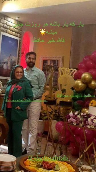 تولد ۴۳سالگی همسر بهاره رهنما در خانه شان + عکس