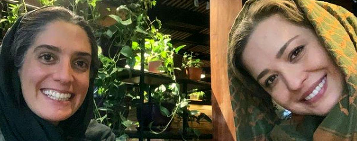 مهراوه شریفی نیا و رفیق قدیمی اش در کافه+ عکس