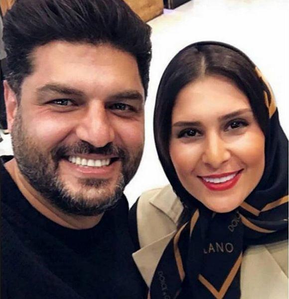 چهره خوشحال سام درخشانی در کنار همسرش + عکس
