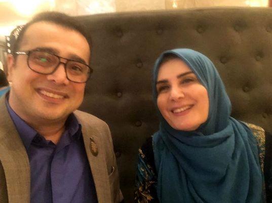سپند امیر سلیمانی در کنار مجری دوستداشتنی اش + عکس