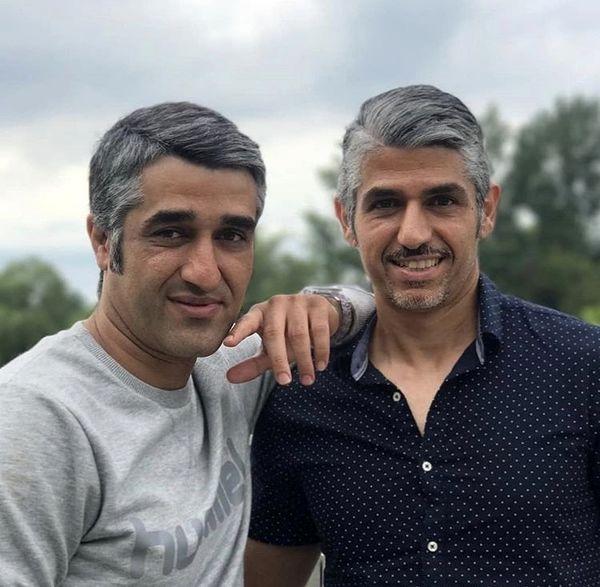 پژمان جمشیدی در کنار برادر بزرگش + عکس