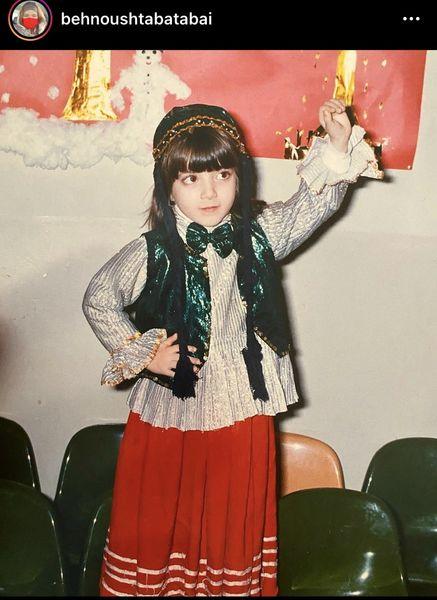 کودکی بهنوش طباطبایی با لباس محلی + عکس