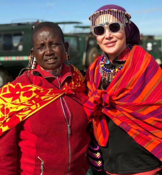 گشت و گذار آرام جعفری در آفریقا+عکس