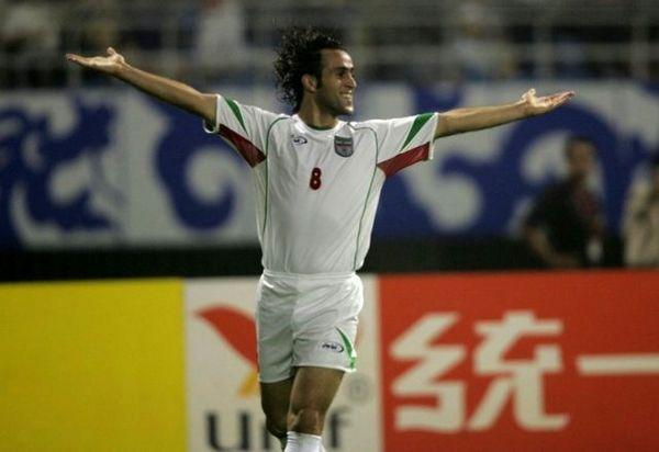 علی کریمی بهترین هافبک تاریخ جام ملتهای آسیا