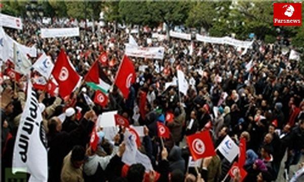 تظاهرات تونسیها علیه عربستان و قطر