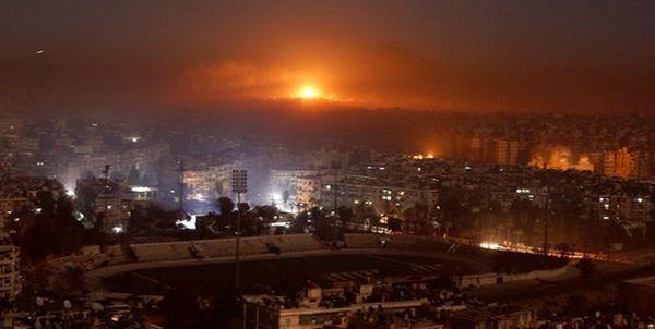 حمله تجاوزکارانه اسرائیل به «حمص» در سوریه+ فیلم