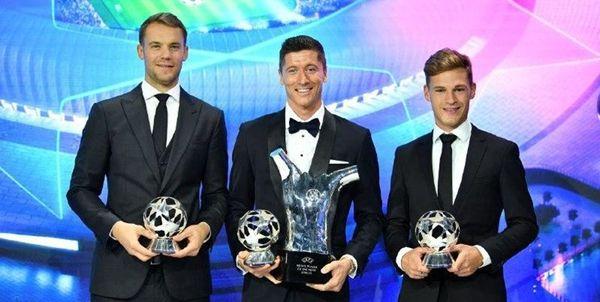 ژست مونیخیها پس از درو کردن جوایز فوتبال اروپا