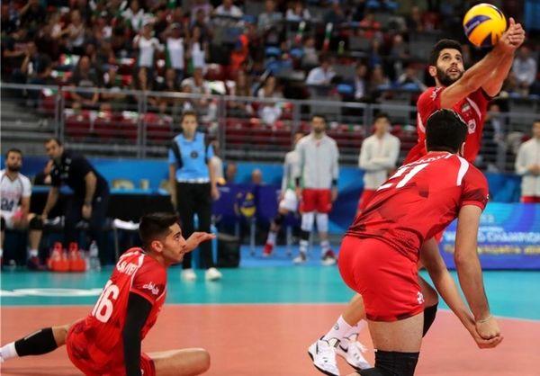 سقوط تیم والیبال ایران به رتبه سوم گروه G