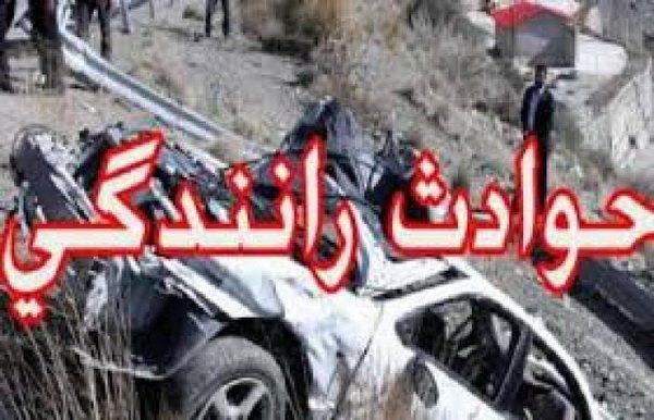 مصدومیت و فوت 12 نفر در حادثه تصادف کامیون و دو خودروی سواری