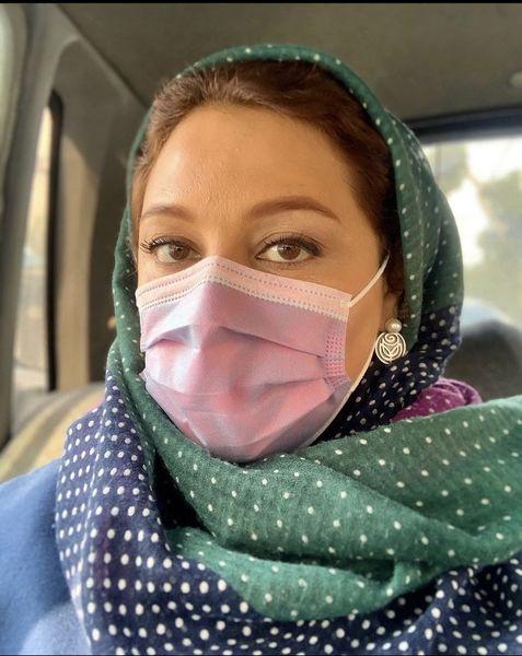 سلفی جدید شبنم مقدمی با ماسک + عکس