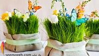 سبزه عید 97 را با گل های طبیعی تزیین کنید
