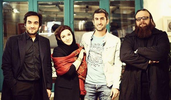 سجاد افشاریان در جمع دوستانش + عکس