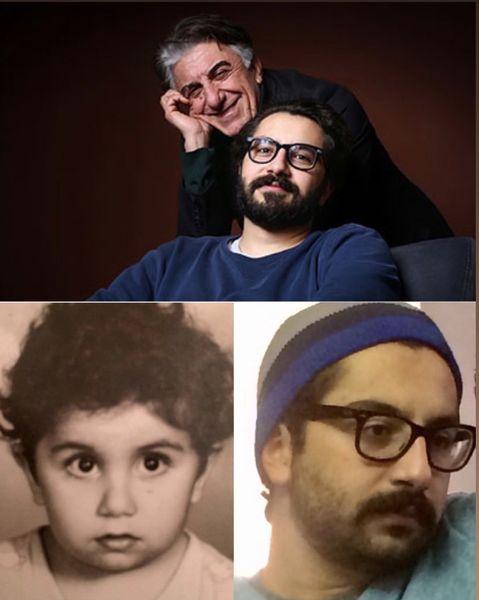 رضا کیانیان و پسرش + عکس