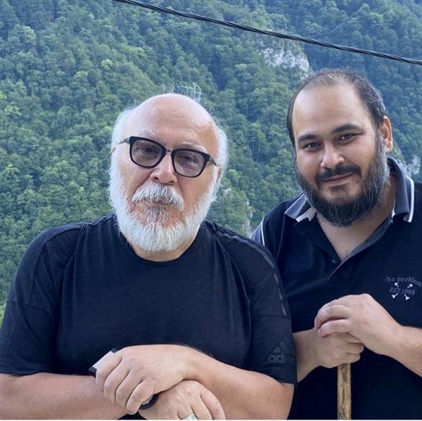رضا داوود نژاد در کنار پدرش + عکس
