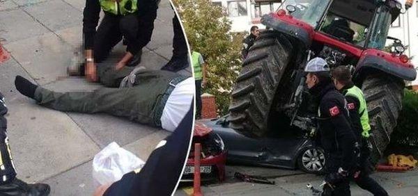 حمله به سفارت اسرائیل در آنکارا با تراکتور!