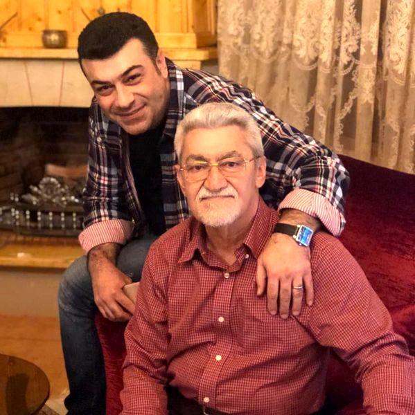 گوینده خبر مشهور در کنار پدر عزیزش + عکس
