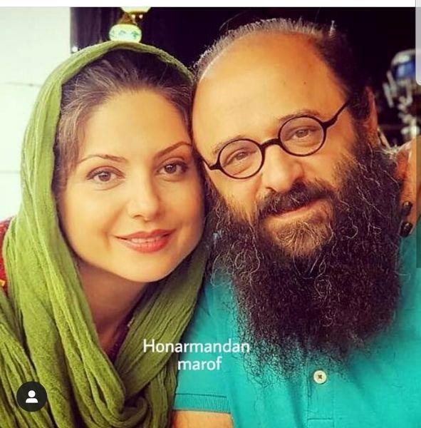 بازیگر دردسرهای عظیم با همسرش+عکس