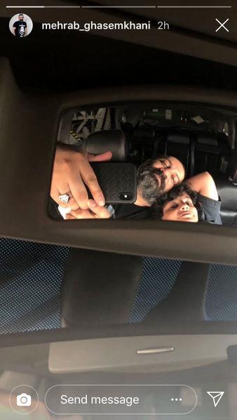 سلفی ماشینی پدر و پسر + عکس