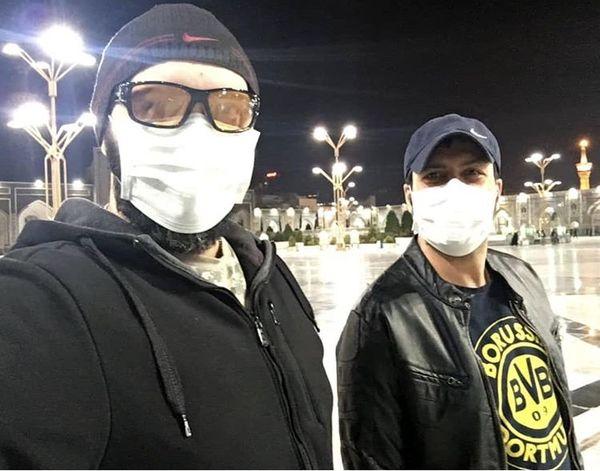 کامبیز دیرباز و مجید واشقانی در مشهد + عکس