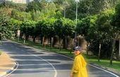 تیپ خاص خاطره اسدی در پیاده روی+عکس