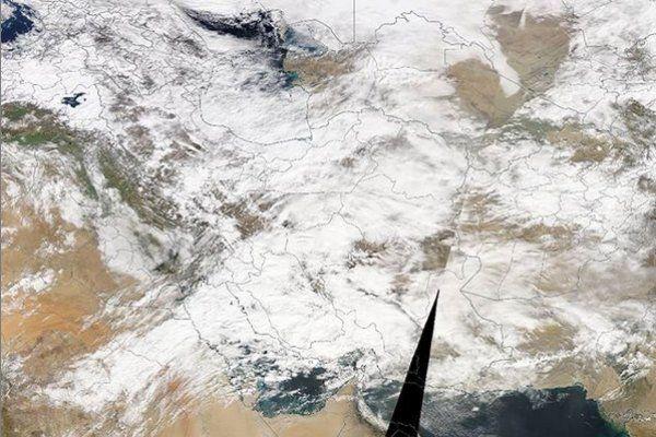 تصویر ماهوارهای پوشش برف در کشور